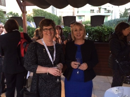 Helen Lami of Academic summer with Kate Hargreaves of Living Learnign English at the Reception.jpeg