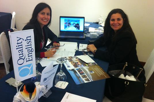 6 Paulina Capital and Carmen Jaramillo of Representaciones Academicas