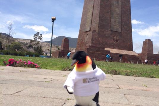 QEd Penguin on Equator
