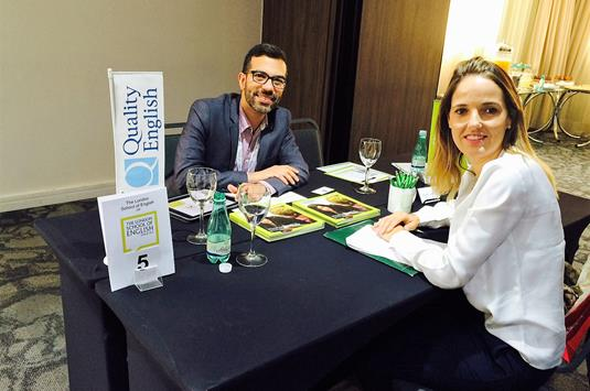 Dirk Figuerido, LSE and Patricia Van Ostaede, GB Tours