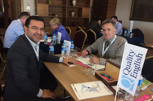 Charlie Reader of Cambridge Academy of English with Onur Yaldizkaya of Idealist Education