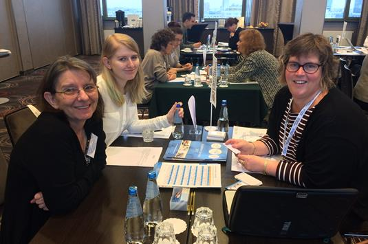 Helen Lami of Academic Summer with Malgorzata Goraj-Bryll and Marta Bryll of ISC International Study Consultants