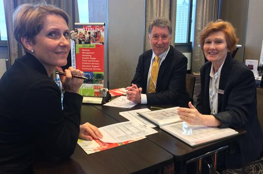 Janelle Dawson and Bruce Bartlett of Sterling Business College with  Joanna Bernacka-Czop of Almatur Polska