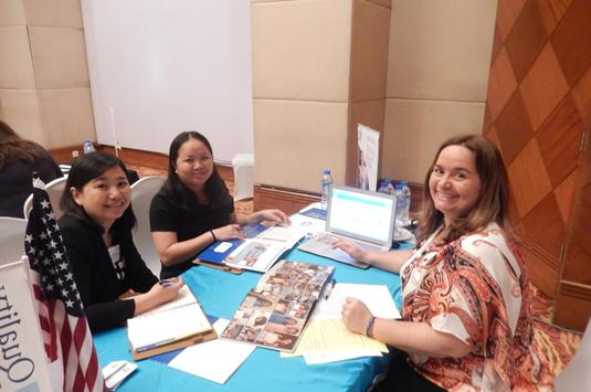 Sandra Vasquez of BSML with Thi Kim Loan Bui and Thy Huong Gian of Saigon Touris Office