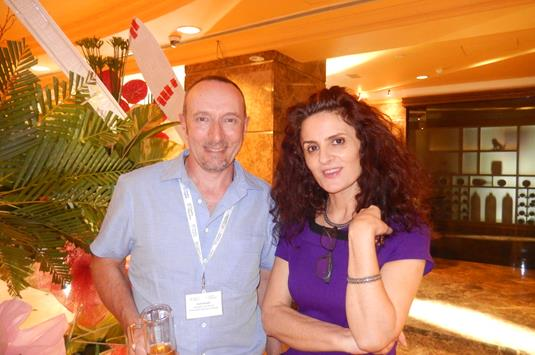 Brett Shireffs of Languages International NZ, and Slavenka Vukovic of Languages United.JPG (1)