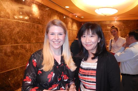 Katie Bizley of Lewis School of English and Cari Yu of Emerald Cultural Institute.JPG (1)