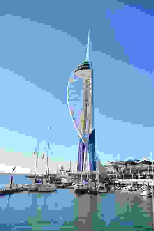Spinnaker Tower and boats