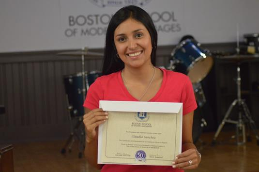 Student with certiifcate