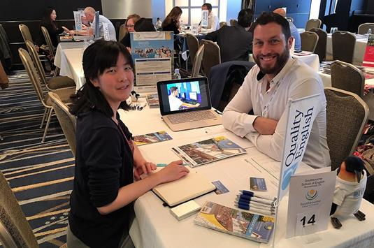 Paul Gallina of Southbourne School of English with Kei Takahashi of DEOW Ltd