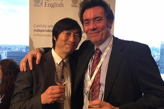 Yoshi Ueoku of Global Study and Neil Mullens of ELC Bristol