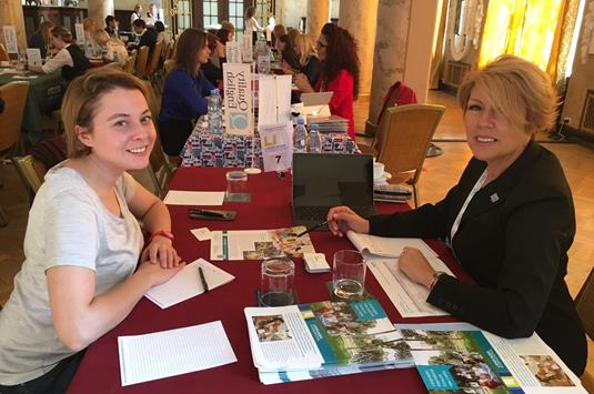 Larissa Merz of Languages International with Svetlana Baturina of Carnival - Copy