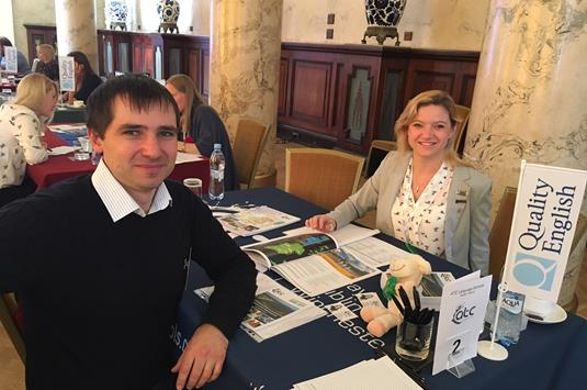 Louise Hunter of ATC with Alexander Chekmazov of Intensiv - Copy