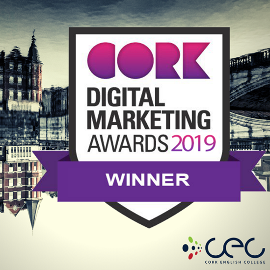 CEC – Cork English College Wins an Award at the Cork Digital Marketing Awards
