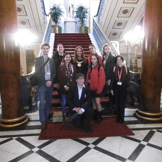 LILA* students visiting the Mayor of Liverpool