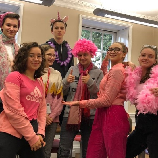 Languages United students raise money in aid of Breast Cancer Now